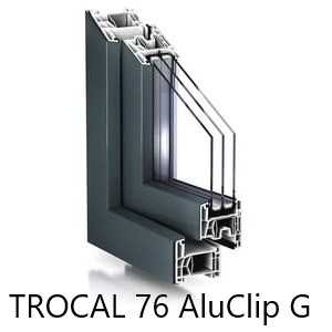 Fenster TROCAL 76 AluClip